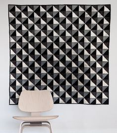 Hello, Handsome by Nancy Downey is a quilt that is one part optical illusion, two parts patchwork.