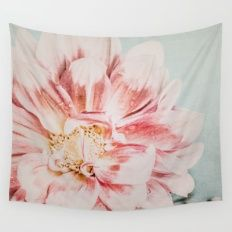 Pink Blush Flower Wall Tapestry