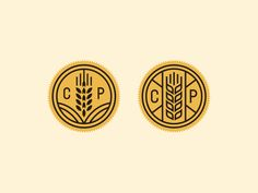 Cute wheat logo badges! The proportions of both work perfectly to lead the eye to the lettering.