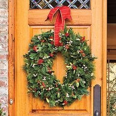 Festive Christmas Wreaths | Stretch Your Wreath | SouthernLiving.com