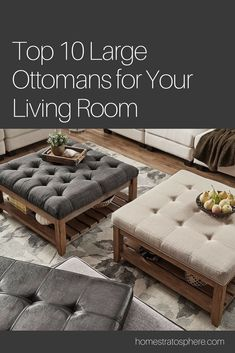 Ottomans Serving As Coffee Tables In The Living Room. #ottoman #livingroom #homedecor #homeideas