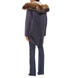 Shop Faux fur-trimmed parka presented at one of the world's leading online stores for luxury fashion. Fishtail Parka, Burberry Outfit, Fur Trim, Alternative Fashion, Wool Coat, Cashmere Sweaters, Wool Blend, Faux Fur, Luxury Fashion