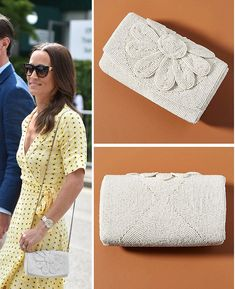 Farin Beaded Clutch as seen on Pippa Middleton Pippa Middleton Style, James Matthews, Beaded Clutch, Anthropologie, Royalty, Mirror, Sweaters, Outfits, Shopping