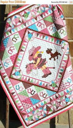 Hey, I found this really awesome Etsy listing at https://www.etsy.com/listing/246076415/cowgirl-quilt-western-bandana-girl