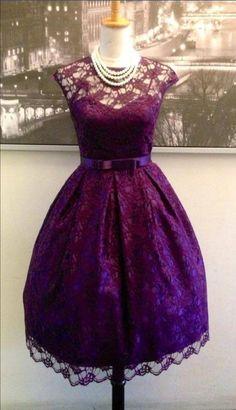 Mulberry Street Vintage Boutique Purple Dress