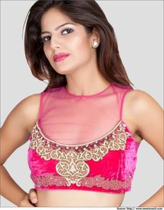Net Blouse Designs - Designer Blouses Patterns, Blouse Back Designs