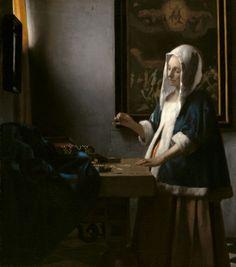#92. Woman Holding a Balance. Johannes Vermeer. c. 1664 CE. Oil on canvas.
