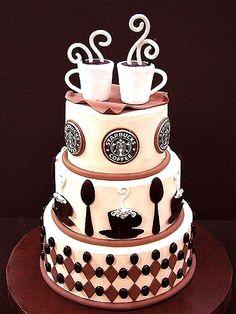 ☕ Starbucks coffee tier cake ☕