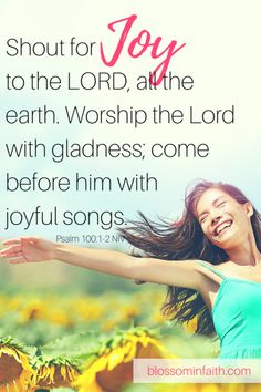 A study on the Fruits of the Spirit. What does it look like to walk in the Fruit of Joy. Christian Women, Christian Faith, Christian Living, Psalm 100, Psalms, Worship The Lord, Bible Encouragement, Christian Resources, Sisters In Christ