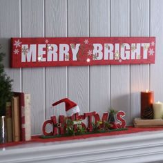 Merry and Bright LED Sign | Kirklands