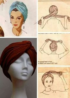 Hijab Tutorial Missoni doin the turban thing right now too like its new or something but ok. Not all Yall can pull this look off…. Hijab Tutorial Source : Missoni doin the turban thing. Turban Mode, Turban Hijab, Hair Turban, Turban Headbands, Tie A Turban, How To Wear Hijab, Curly Hair Styles, Natural Hair Styles, Head Scarf Styles