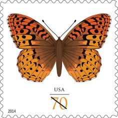 U.S. Postal Service launches Great Spangled Fritillary Butterfly Stamp