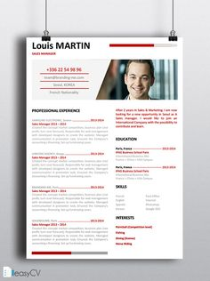 resume cv template - Template Of A Resume