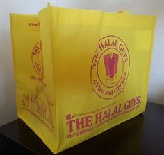 The Halal Guys gave this reusable tote bag as an appreciation gift to their customers. The Halal guys truly understand the power of promotional products.