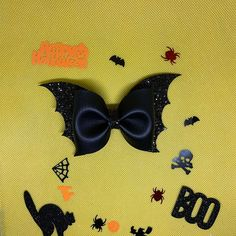 Bat Pinch Bow SVG Halloween Bow Template Bestseller Bat   Etsy Bow Template, Templates, Halloween Hair Bows, We All Make Mistakes, Glitter Canvas, Laser Cutting Machine, Bow Pattern, Silhouette Designer Edition, Bat Wings