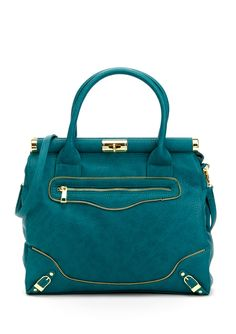 Olivia and Joy Miss Priss Teal Satchel