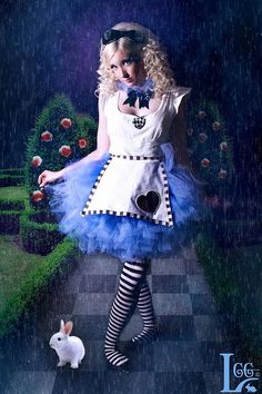 Alice in Wonderland inspire tutu costume by Abby's TuTu Factory and beautiful photography work by Looking Glass Girls