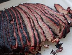 Mmmm.  #BBQ brisket flat.  Smokey and heavenly.  To foil or not to foil? #recipe