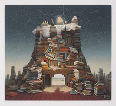 Fantastyczne światy z obrazów Jacka Yerki