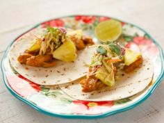 Get Pineapple Chicken Tacos Recipe from Food Network