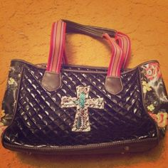 A black cross tote It has a lot of room inside with a few pockets Bags Totes
