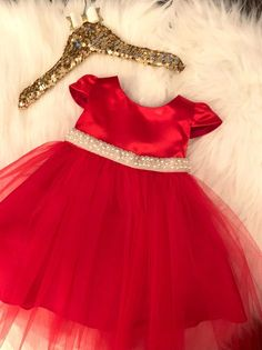 Baby Red Christmas Dress - Baby Holiday Dress - Red Flower Girl Dress - First Birthday Dress - Baby Girl Formal Dress - Red Tutu dress Baby Girl Red Dress, Red Flower Girl Dresses, Baby Girl Dress Patterns, Dress Red, Flower Girls, Baby Dress, Red Dresses For Kids, Dresses Kids Girl, Red Christmas Dress