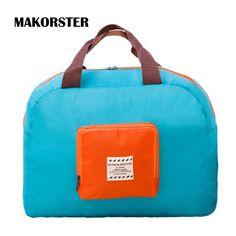 Makorsterファッション有名なブランド女性旅行バッグ学生ナイロン週末ダッフルバッグ荷物トラベルバッグハンドバッグXH232