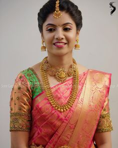 Muhurtham look for my lovely bride Rasika😊 For bridal bookings contact 9840312031 Bridal Hairstyle Indian Wedding, South Indian Bride Hairstyle, Indian Bridal Sarees, Bridal Silk Saree, Indian Wedding Hairstyles, Indian Bridal Makeup, Indian Bridal Fashion, Saree Wedding, Wedding Hairdos