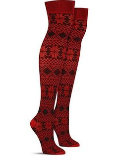 These over the knee beauties from MeMoi have all the makings for becoming your new favorite pair of boot socks! They're a lighter weight and very stretchy, making them a great choice to wear under your closest fitting boots, even with skinny jeans underneath! And their sweater-like pattern adds a warm touch to your winter style, keeping your hygge levels high all season!  Over the knee length Fits shoe size 5-10 Content:56% Polyester, 40% Cotton, and 4% Spandex Made by MeMoi #kneehighsocks