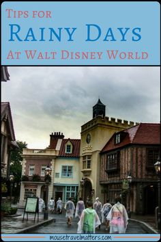 These great Tips to Enjoy a Rainy Day at Walt Disney World will make your trip magical. Don't let a little rain ruin all the family vacation fun at Walt Disney World. Walt Disney World Vacations, Best Vacations, Disney Parks, Disney Travel, Disney Bound, Disney World Tips And Tricks, Disney Tips, Disney Ideas, Disney Stuff