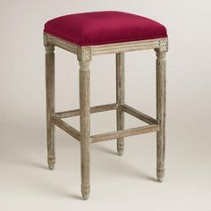 One of my favorite discoveries at WorldMarket.com: Merlot Paige Backless Barstool