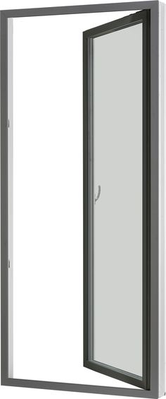 Entrance door in wood and aluminium