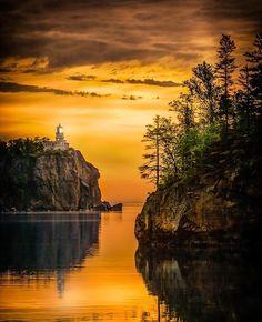 Split Rock Lighthouse, Minnesota, USA - by Rikk Flohr