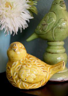 Ceramic birdies from Hobby Lobby