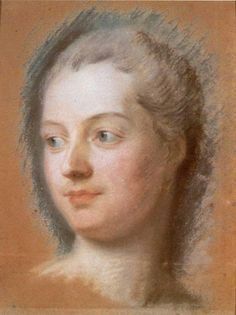 Madame de Pompadour; Maurice Quetin de la Tour; 1752; studio preparatorio per il dipinto del 1754: disegno a pastello; Musée Antoine Lécuyer, Saint-Quentin.