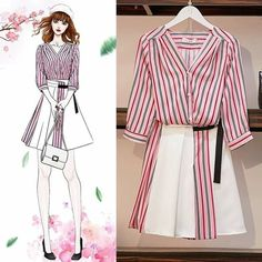 Fashion Design Drawings, Fashion Sketches, Fashion Drawing Dresses, Fashion Dresses, Girls Fashion Clothes, Clothes For Women, Frock Fashion, Dress Sketches, Cute Fashion