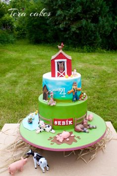 cake with farm animals - Cake by Tera cakes