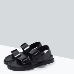 ZARA - SHOES & BAGS - BUCKLED SANDALS WITH FOOTBED