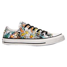 Converse Womens Chuck Taylor All Star Daisy Print Low Top Sneaker  Black/Rebel Teal/White M (*Partner Link)