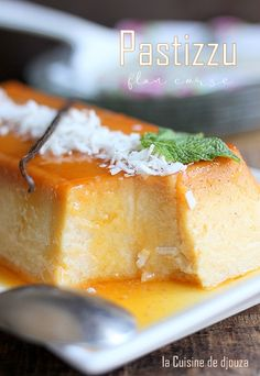 Flan Dessert, Dessert Recipes, Creme Caramel, French Food, Healthy Dinner Recipes, Catering, Deserts, Food Porn, Food And Drink