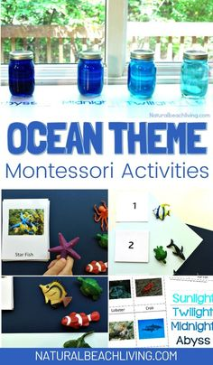 Ocean Activities, Montessori Activities, Summer Activities For Kids, Hands On Activities, Ocean Lesson Plans, Preschool Lesson Plans, Preschool Themes, Preschool Printables, Under The Sea Theme