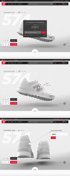 This phase involved bringing the experience within the brand framework and shell of the New Balance site as well as introducing concepts like collaborative design and gallery sharing.