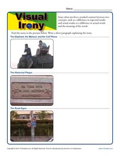 Situational vs. Dramatic Irony - Worksheet Practice Activity - In ...
