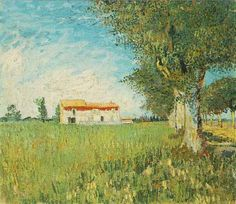 Farmhouse in a Wheat Field | Vincent Van Gogh | oil painting #vangoghpaintings