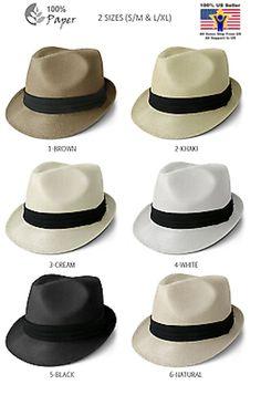 Straw Fedora Hat Trilby Cuban Cap Summer Beach Sun Panama Short Brim Men  Women 7d2dbcd916a