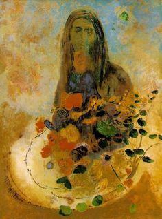 Mystery via Odilon Redon Medium: oil on canvas