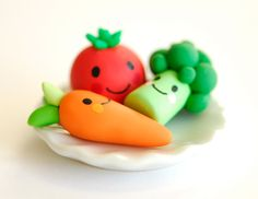 going to make some from fondant - Yummy vegetables!