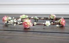 Rustic Wedding Flower Crown Accessories by myfashioncreations
