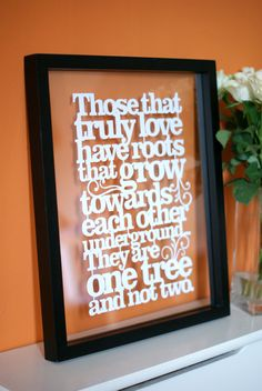 Those that truly love... Handcut papercut by kyleighspapercuts.co.uk