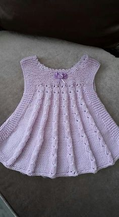 Best 12 Ravelry: Project Gallery for Ellis dress/ Ellin mekko pattern by Jaana – SkillOfKing. Knitting Baby Girl, Baby Cardigan Knitting Pattern, Lace Knitting Patterns, Crochet Baby, Knit Crochet, Girls Knitted Dress, Knit Baby Dress, Knitted Baby Clothes, Pinterest Baby